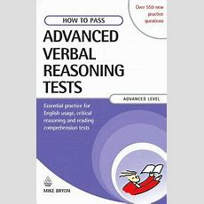 How To Pass Advanced Verbal Reasoning Tests Essential Practice For English Usage, Critical