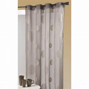 Rideaux Ikea Voilage : voilage 5 mondes taupe et beige 140 x 240 cm leroy merlin ~ Teatrodelosmanantiales.com Idées de Décoration