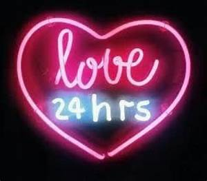 love heart pink neon aesthetic