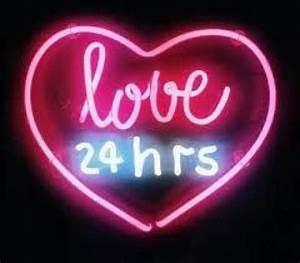 love heart pink neon aesthetic