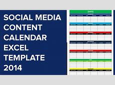 Social Media Calendar Excel Template calendar template excel