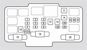 Honda Element  2007  U2013 2008   U2013 Fuse Box Diagram