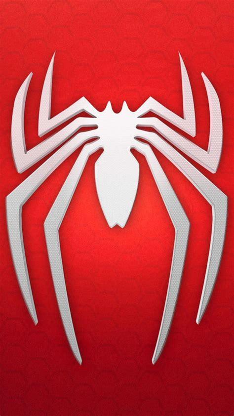 wallpaper spiderman logo background red white games