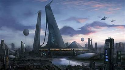 Future Wallpapers Futuristic Cities Backgrounds Cool Science