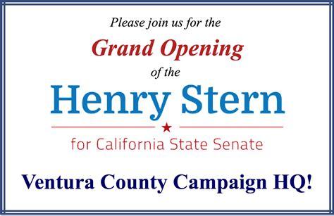 grand opening state senate candidate henry sterns ventura county