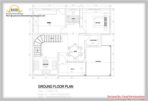 floor plans home plan and elevation 1983 sq ft kerala home design