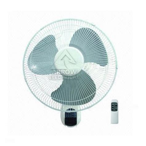 wall mount oscillating fan with remote arrow 16 quot wall mounted fan remote controlled 3 speed