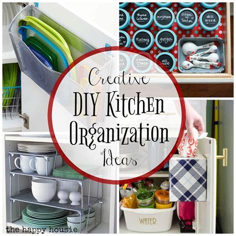 Organized Kitchen Ideas - super creative kitchen organization ideas the happy housie