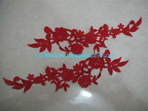 quality bridal lace applique embroidered corded lace