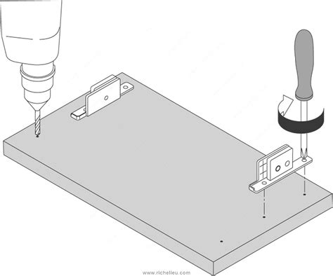 Richelieu Cabinet Hardware Template by Box System Front Template For Tandembox 358 Richelieu