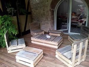 fabriquer son salon de jardin en bois galerie avec salon With fabriquer son salon de jardin en bois