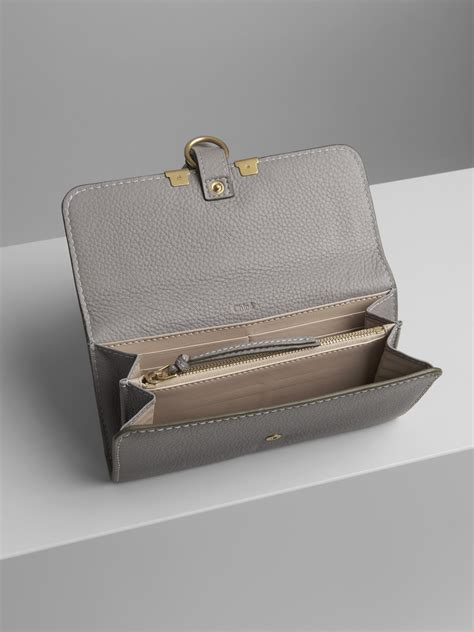 Today, the brands are part. Marcie Long Wallet With Flap In Grained Calfskin | Chloé US