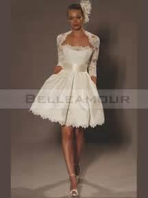 robe de mariage courte robe de mariée courte satin dentelle bande moderne ivoire