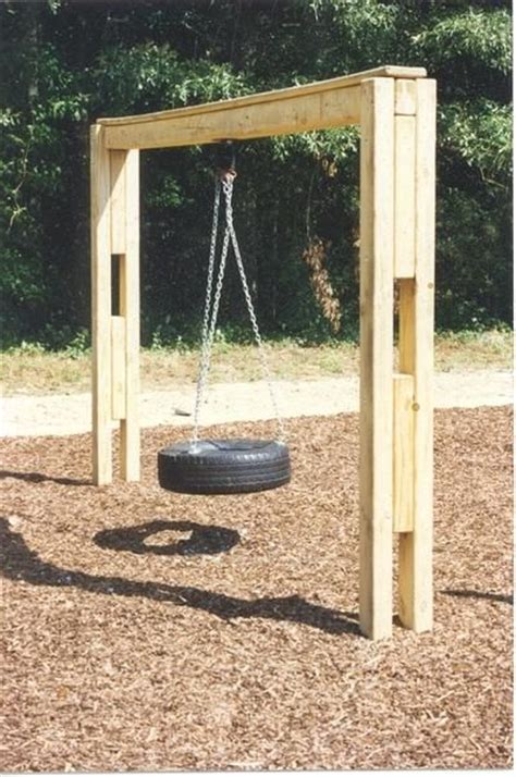 build tire swing frame woodworking projects plans