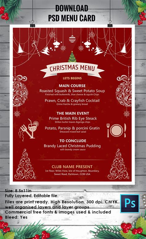 christmas flyer templates psd ai illustrator word