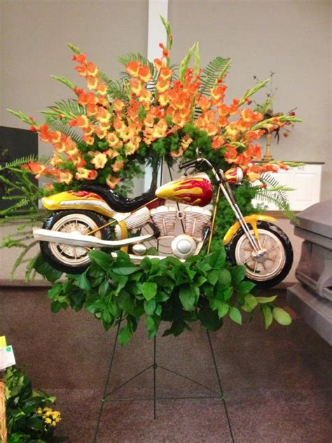 motorcycle tribute funeral flowers sympathy funeral