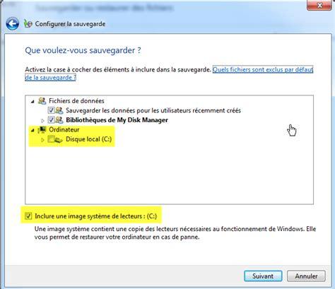 sauvegarde bureau windows 7 comment configurer et planifier une sauvegarde avec