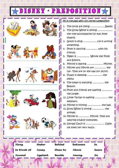 preposition of place exercises worksheets free worksheet