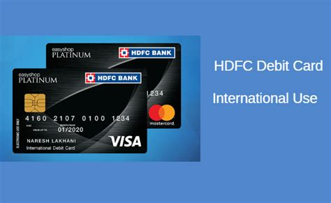 Enable International Usage For HDFC Debit Card ...