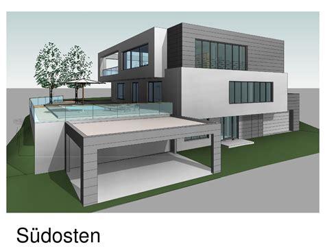 Modernes Einfamilienhaus Mit Pool Dreierarchitektur