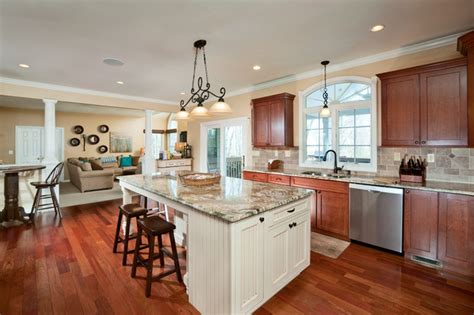 houzz kitchen islands with seating large granite topped island with seating transitional 7180