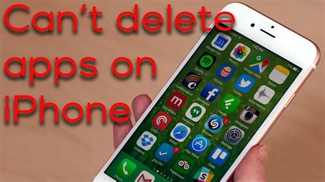 what to do if you can t delete apps on iphone
