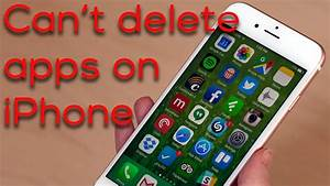 Iphone Apps Aufräumen : what to do if you can 39 t delete apps on iphone youtube ~ Orissabook.com Haus und Dekorationen
