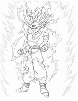 Gohan Ssj2 Coloring Cell Vs Colorear Deviantart Sketch Template Saga sketch template