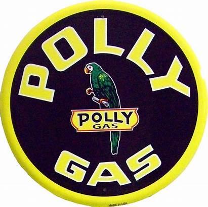 Gas Metal Polly Signs Oil Retro Tin