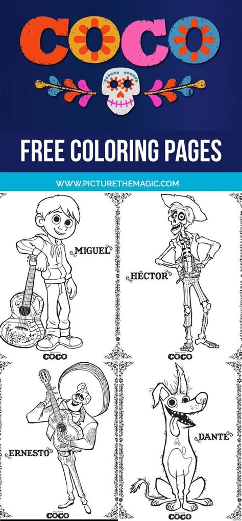 Coco Coloring Pages (March 2020 Edition) Miguel coloring