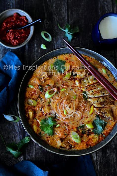 soupe thai poulet lait de coco  curry rouge recette