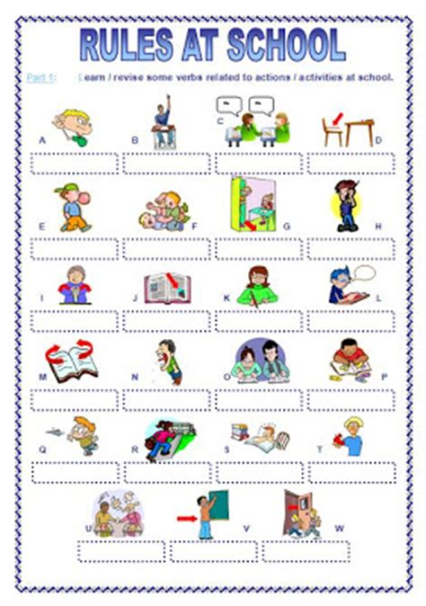 HD wallpapers worksheets for school rules
