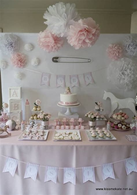 table for baby shower table setting bridge s baby shower tables