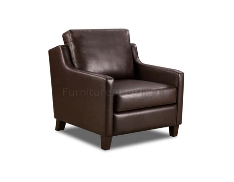 black or brown bonded leather modern accent chair
