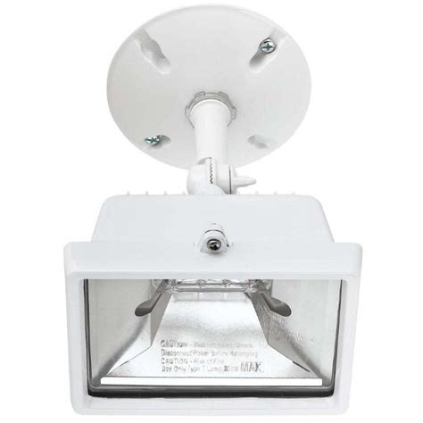 globe electric 250 watt single l outdoor halogen