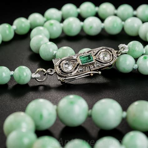 natural burmese jade bead necklace