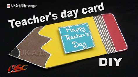 diy pencil shape teachers day card    jk