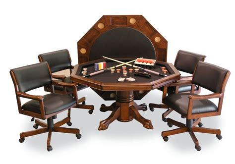 poker table and chips set signature combination game table set w 4 chairs
