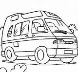 Caravan Coloring Van Camping Coloriage Compact Enfant Coloringcrew Colorear Campingcar Vanlife sketch template