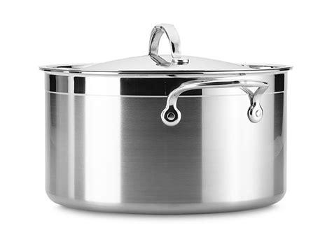 hestan probond stainless steel stock pot  quart cutlery