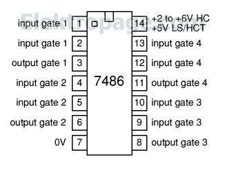 7486 Ic Pinout Diagram  Integrated Circuits Elektropagecom