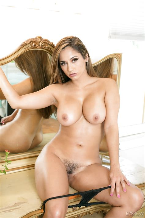 Busty Beauty Reena Sky In Lace Panties Baring Big Tits And