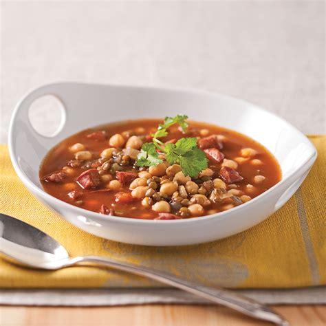 lentilles cuisine soupe de lentilles pois chiches et chorizo recettes