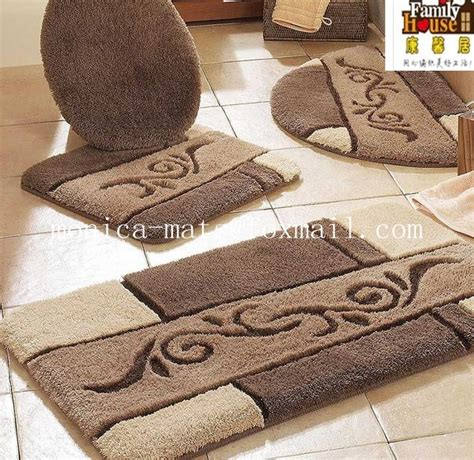 5 piece bathroom rug sets