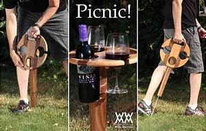 Folding Wine Table for Picnics Woodworking for Mere Mortals