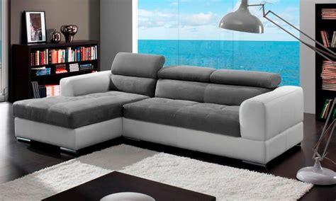 canapé d angle bicolore canapé d 39 angle bicolore milo avec tétières ajustables