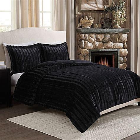 black bed sets buy fancy fur reversible comforter set in 10843   6754213276068m?$478$