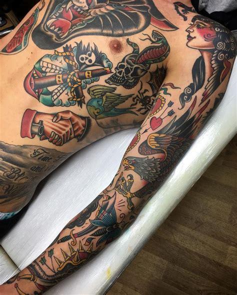 25+ Best Old School Tattoo Sleeve Ideas On Pinterest
