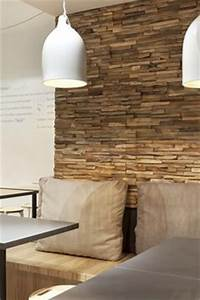 Parement Bois Adhesif : plaquettes de parement bois adhesives castorama deco ~ Premium-room.com Idées de Décoration