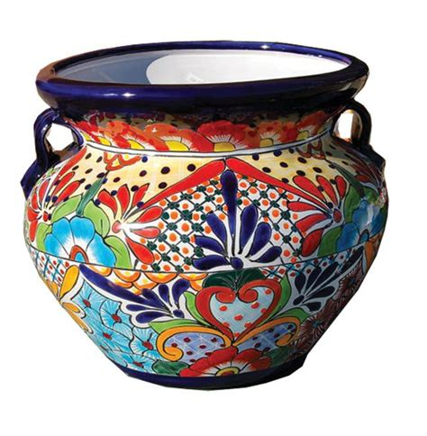 Mexican Pot by Talavera Pottery Is The Mexican Version Of Majolica
